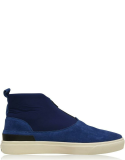 Stone Island Shadow Project Sp Flat Ankle Boot Sn14 - Lght Blue V0022