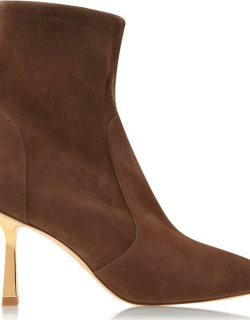 Stuart Weitzman Max 85 Mm Boots - Taupe/Gold TP/G
