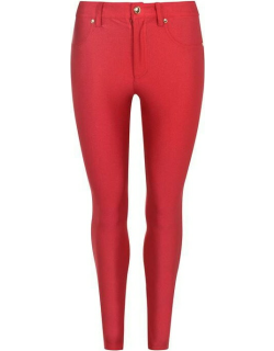 Versace Stretch Satin Pants - RED