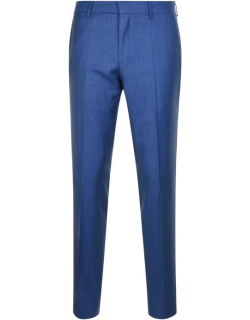 Hugo Textured Suit Trousers - Mid Blue 422