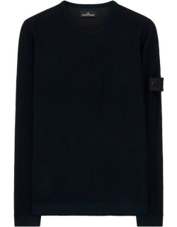 Stone Island Shadow Project Mesh Knit Crew Sweater - Ink V0026