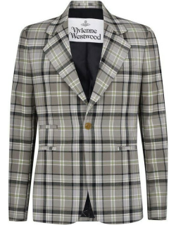 VIVIENNE WESTWOOD Classic Checked Jacket - Beige Chk O202