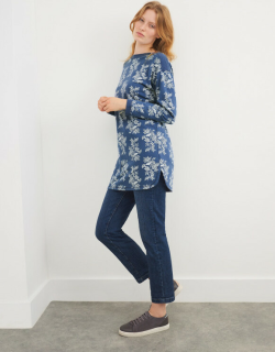White Stuff Floral Loop Back Tunic