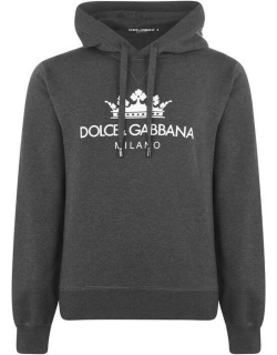 Dolce and Gabbana Milano Hoodie - Charcoal S8295