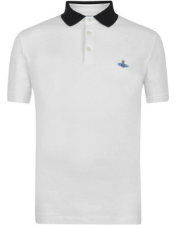 VIVIENNE WESTWOOD Contrasting Collar Polo Shirt - White/Black