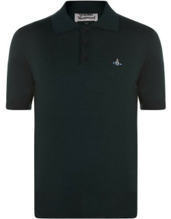 Vivienne Westwood Knitted Orb Polo - Green 650