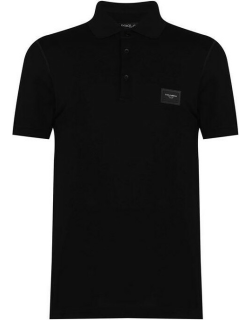 Dolce and Gabbana Rubber Plate Polo Shirt - Nero N0000