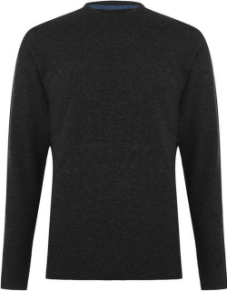 Barbour Wool Crew Neck Jumper - Charcoal