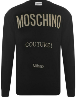 MOSCHINO Couture Knit Jumper - Black A0555