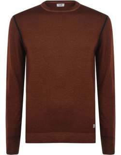 CP COMPANY 57a Knit Jumper - Blue Canvas Red