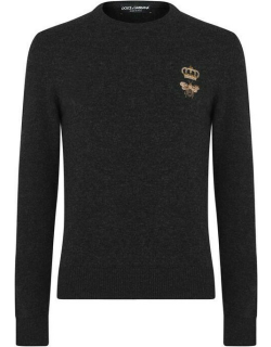 Dolce and Gabbana Bee & Crown Knit Jumper - Drk Anth N0190