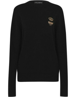 Dolce and Gabbana Bee & Crown Knit Jumper - Black N0000