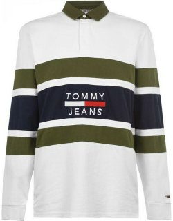Tommy Jeans Panel Rugby Shirt - Classic White
