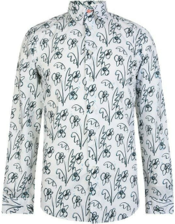 Paul Smith Tailoring Tailored Fit Floral Shirt - White 01