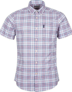 Barbour Country Check 22 Short Sleeve Tailored Shirt - faded pink PI38