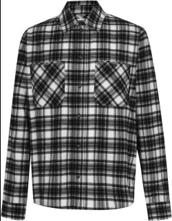 OFF WHITE All Over Check Flannel Shirt - Black 1000