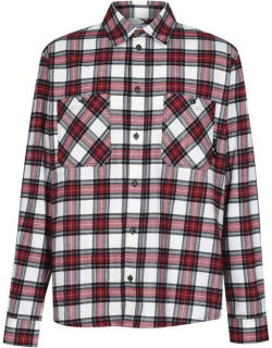 OFF WHITE All Over Check Flannel Shirt - Red 2500