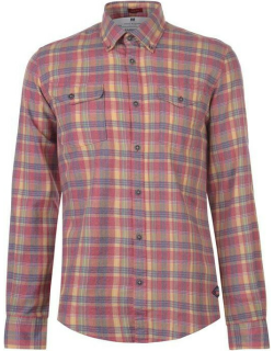 Barbour International Checked Shirt Mens - Washed Red