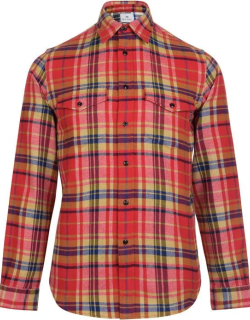 PS PAUL SMITH Brush Cotton Check Shirt - Red 25
