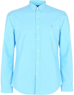 Polo Ralph Lauren Slim Fit Garment Dyed Oxford Shirt - French Turquois