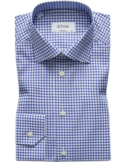 Eton Contemporary Fit Checked Shirt - Blue 25