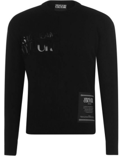Versace Jeans Couture Logo Knit Sweater - Black 899