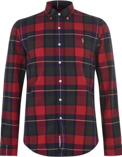 Polo Ralph Lauren Check Oxford Shirt - RusticRed/Yelw