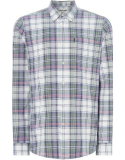 Barbour Oxford Checked Tailored Shirt - White