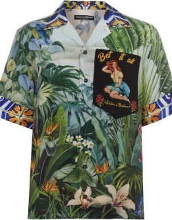 Dolce and Gabbana Pinup Tropical Shirt - Multi S9000