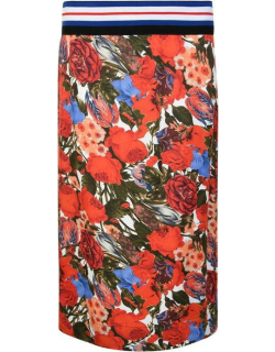 MARNI Floral Pencil Skirt - Red DUR66