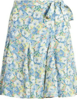 Polo Ralph Lauren Polo Tie Midi Skirt Ld14 - Etched Floral