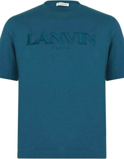 LANVIN Embroidered T Shirt - Slate