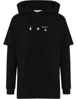 OFF WHITE Hands Off T Shirt Hoodie - Black 1045