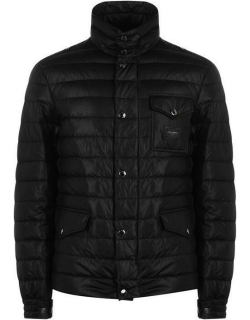 Dolce and Gabbana Plate Quilted Jacket - Black N0000