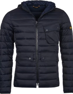 Barbour International Ouston Hooded Quilt - Navy