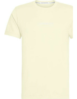 Calvin Klein Jeans Institutional Chest Logo T Shirt - Mimosa Yellow