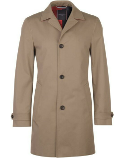 Tommy Hilfiger Tommy Pure Cotton Point Collar Trench Coat - Stone 203