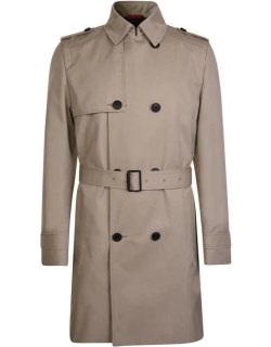 Hugo Double Breasted Trench Coat - Stone 268