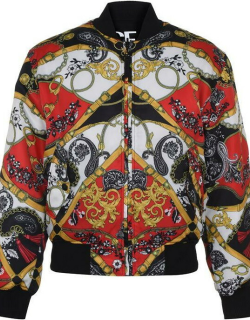 Versace Jeans Couture Red Belt Jacket - Blk/Red 500