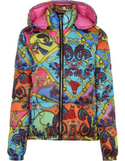 Versace Jeans Couture Colour Belt Padded Jacket - Multi 445