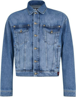 Versace Jeans Couture Embroidered Denim Jacket - Blue E904