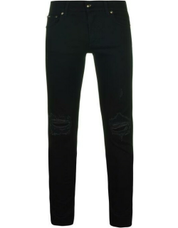 Dolce and Gabbana Knee Ripped Jeans - Black S9001