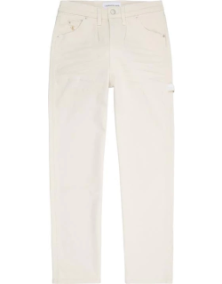 Calvin Klein Jeans High Rise Straight Ankle Jeans - 1AA DENIM LGHT