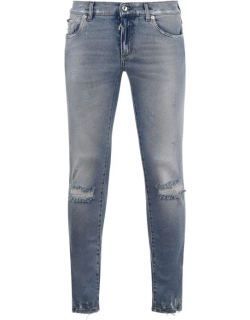 Dolce and Gabbana Ripped 14 Jeans - Stone S9001