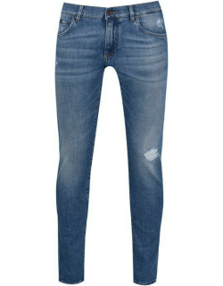 Dolce and Gabbana Distressed Jeans - Blue S9001
