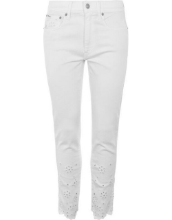 Polo Ralph Lauren Embroidered Flow Jeans - White