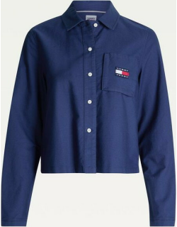 Tommy Jeans Tjw Regular Tommy Badge Shirt - TWLGHT NAVY C87