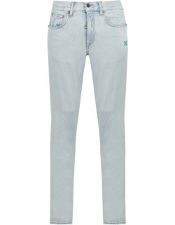 OFF WHITE Bleached Jeans - White 47144