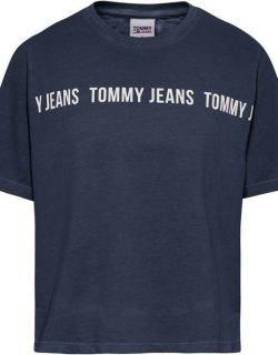 Tommy Jeans Crop Tape T Shirt - C87 TWLIGHT NVY