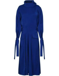 KENZO Long Flared Quilted Dress - Royal Blue 71